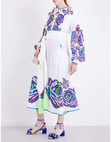 Yuliya Magdych Love Confession embroidered cotton dress