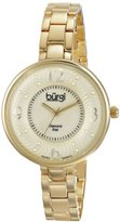 Burgi Women's BUR103YG Yellow Gold Swiss Quartz Watch with Mother of Pearl and Yellow Gold Dial and Yellow Gold Bracelet