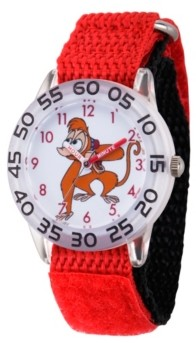 EWatchFactory Boy's Disney Aladdin Abu Red Plastic Time Teacher Strap Watch 32mm