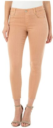 Liverpool Gia Glider Crop Cut Hem in Dusty Coral (Dusty Coral) Women's Jeans