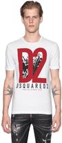 DSQUARED2 D2 Military Glam Cotton Jersey T-Shirt