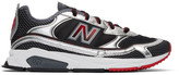 New Balance Black and Silver X-Racer Sneakers