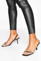 boohoo Diamante Low Heel Sandals