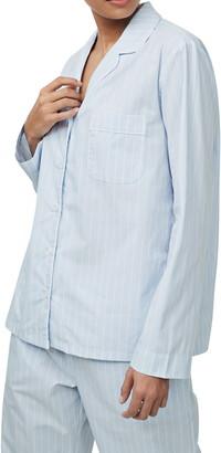 The White Company Chalk Stripe Pajama Shirt