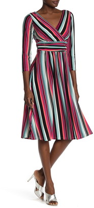 London Times Multi Striped Dress