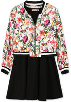 Speechless 2-Pc. Floral-Print Bomber Jacket and Dress Set, Big Girls (7-16)