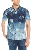 Nudie Jeans Men's Brandon Seaweed Short Sleeve Button Down Shirt