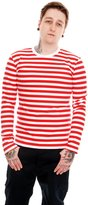 Run & Fly Mens Indie Retro 60's Striped Long Sleeve T Shirt XL