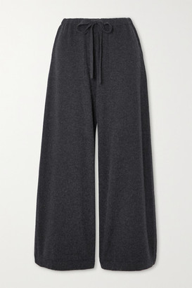 Vince Cropped Wool And Cashmere-blend Wide-leg Pants - Gray