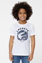 Lacoste Boy's Short Sleeve And Croc Graphic T-Shirt