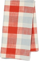 Pehr Designs Slubby Cotton Tea Towel in Cloud & Tomato