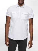 Calvin Klein Slim Fit Pinball Print Short Sleeve Shirt