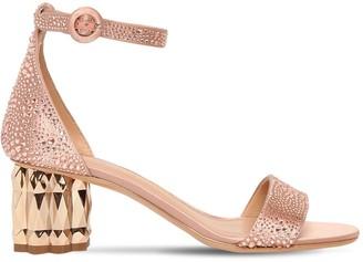 Salvatore Ferragamo 55mm Azalea Embellished Satin Sandals