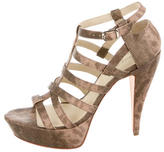 Elizabeth and James Embossed Platform Cage Sandals w/ Tags