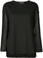 Fabiana Filippi sheer sleeve top - women - Linen/Flax/Polyamide/Viscose - 42