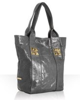 by Stephanie Lin light grey patent 'Diego Toto' tall tote