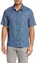 Nat Nast Men's Alta Classic Fit Silk Blend Camp Shirt
