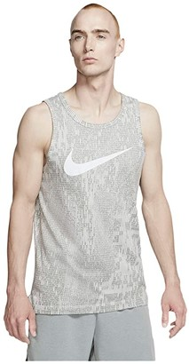 Nike Dri-FITtm Cotton Tank Print (Pure Platinum/Particle Grey) Men's Clothing