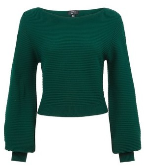 Dorothy Perkins Womens Lola Skye Green Blouson Jumper, Green