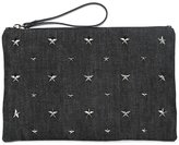 RED Valentino star studded clutch - women - Cotton - One Size