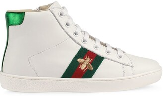 Gucci Kids Children's leather high-top sneaker