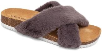 Lisa Vicky Olla Faux Fur Slide Sandal