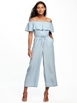 Old Navy Off-the-Shoulder Ruffled Tencel® Jumpsuit for Women