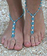 Blue Diamond Crystal Barefoot Sandal