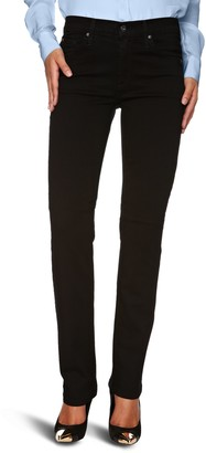 James Jeans Women's Hunter High Rise Straight Leg in Black Clean 26