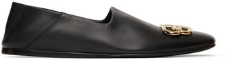 Balenciaga Black BB Cosy Loafers