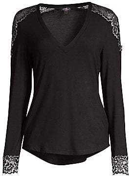 Cosabella (コサベラ) - Cosabella Women's Lace-Trimmed Lounge Top