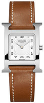 Hermes Heure H PM Watch with Barenia Leather Strap