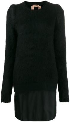 No.21 Layered Sweater Dress