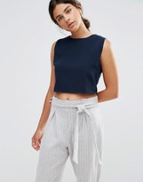 NATIVE YOUTH Boat Neck Crop Top