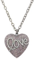 Saks Fifth Avenue Sterling Silver, Ruby & Diamond Heart Pendant Necklace
