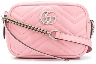 Gucci quilted GG motif crossbody bag