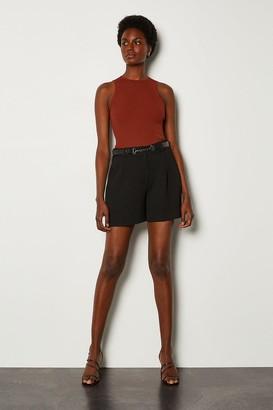 Karen Millen Belted Relaxed Tailored Shorts