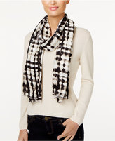 Calvin Klein Wood-Cut Oblong Scarf
