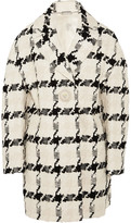 Alexander McQueen Houndstooth Tweed Coat - Ivory