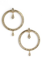 Luv Aj Women's Pave Frontal Hoop Earrings