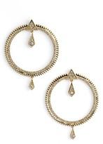 Luv Aj Women's Pave Frontal Hoop Earrings