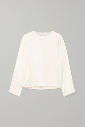 Off-White La Collection - Gaetane Silk-satin Blouse