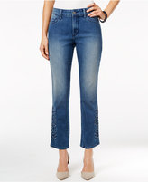 NYDJ Embroidered Ira Relaxed Ankle Jeans