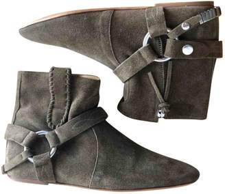 Isabel Marant Gaucho Khaki Suede Ankle boots
