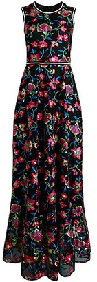 Cynthia Rowley Lorelei Embroidered Floral Dress