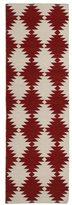 Tribeca Flatweave Red Wordly Wool Rug (2'6 x 8' Runer)