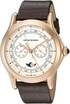 Emporio Armani Swiss Made Men's ARS4202 Analog Display Swiss Quartz Brown Watch