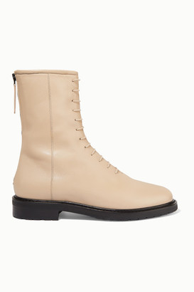 LEGRES 08 Leather Ankle Boots - Cream