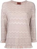 Missoni frayed jumper