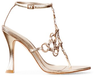 Cult Gaia Athena Chain Ankle-Strap Sandals